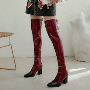 Women's Over The Knee Boots with Fashion Zippers