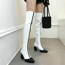 Load image into Gallery viewer, Women's Over The Knee Boots with Fashion Zippers