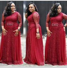Load image into Gallery viewer, Elegant African Style Plus Size Evening Dress
