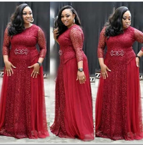 Elegant African Style Plus Size Evening Dress
