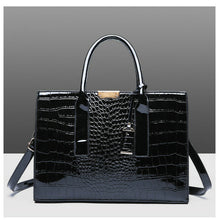 Load image into Gallery viewer, Luxury Black Alligator Composite Handbag