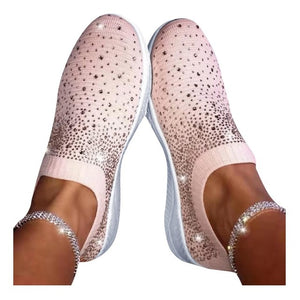 Women Rhinestone Sneakers  with Crystal Vulcanize Bling