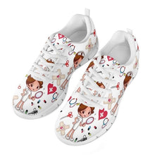 Load image into Gallery viewer, Nurse Sneakers with Cute Cartoon