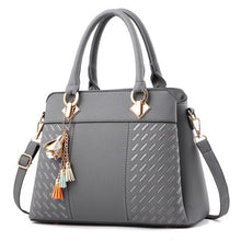 Load image into Gallery viewer, Luxury Black Handbag with Cross-body Design