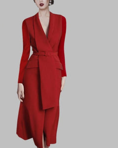 Professional Long Red Dress