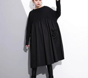 Long Sleeve Dress with Big Pockets