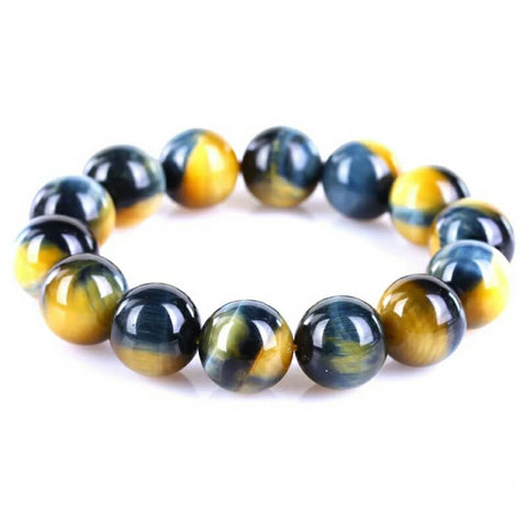 Unisex Quality Natural Gold Blue Tiger Eye Yellow Gemstone