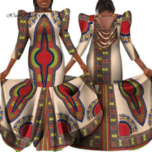 Load image into Gallery viewer, Plus Size African Backless Long Dress