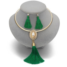 Load image into Gallery viewer, Women's Tassel Jewelry with Pearl Choker Holiday Collection
