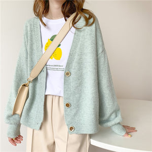 H.SA 2020 Autumn Women Sweater Cardigans Oversize V neck