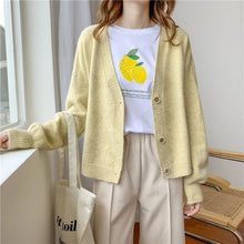 Load image into Gallery viewer, H.SA 2020 Autumn Women Sweater Cardigans Oversize V neck