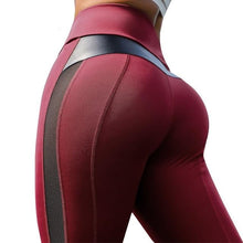 Load image into Gallery viewer, Black Mesh High Waist Fitness Leggings