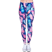 Load image into Gallery viewer, Aztec High Waist Leggings with Red, Blue, White, and Purple Print