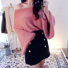 Load image into Gallery viewer, Autumn Fashion Sweater Off Shoulder with Flare Sleeve