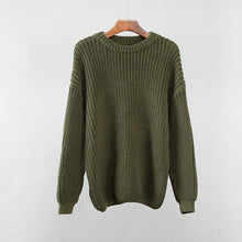 Load image into Gallery viewer, Hirsionsan Loose Autumn Sweater