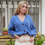 Vintage Cardigan Knitted V-Neck Sweater