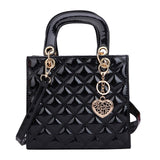 Diamond Stripe Women Handbag Crossbody Bag High Quality Leather