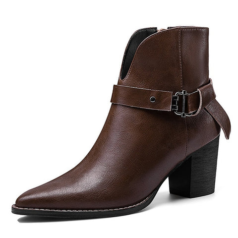 FEDONAS Elegant Pointed Toe Ankle Boots Holiday Collection