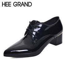 Load image into Gallery viewer, Women's Pointed Toe Leather Fashion Lace-up