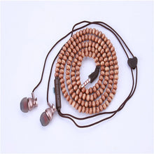 Load image into Gallery viewer, Fashion Bracelet Earphone Wooden Beads Stereo in-ear Earbuds Noise Canceling