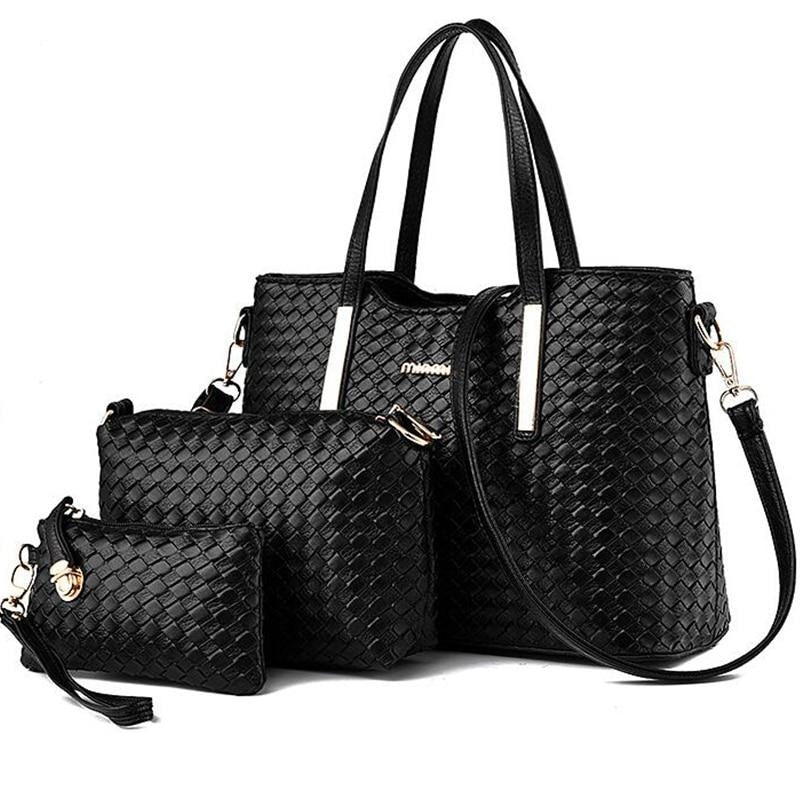 3 Sets Weave Pattern Handbags