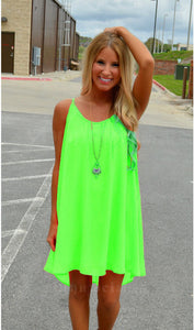 Fluorescence Chiffon Voile Dress