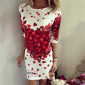 Casual Cartoon O-neck Mini Dress