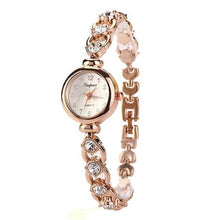 Load image into Gallery viewer, Ladies Elegant Rhinestone Analog Quartz Wrist Watch