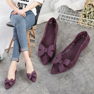 Summer Jelly Flat Rain Shoes