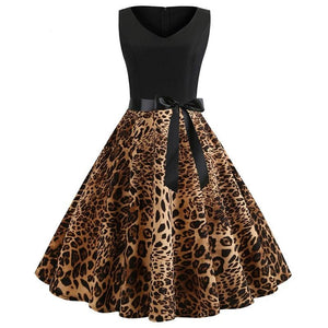 Leopard Print Sleeveless Dress