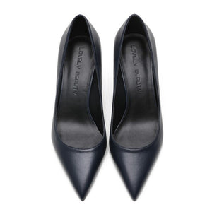 Women Pumps Autumn White High Heels Pointed Toe Sexy Genuine Leather