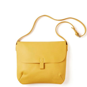 Gele leren laptoptas, Back Yard, Yellow