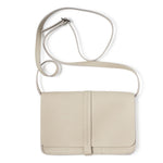 Licht beige leren schoudertas, Off Duty, Cement