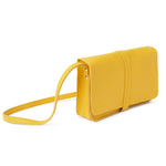 Gele leren schoudertas, Off Duty, Yellow