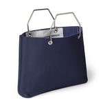 Donkerblauwe leren shopper tas, Window Shopper, Ink Blue