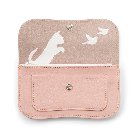 Portemonnee, Cat Chase Medium, Soft Pink