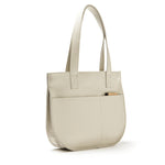 Licht beige leren handtas, Dream Team, Cement