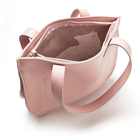 Lichtroze leren handtas, Dream Team, Soft Pink