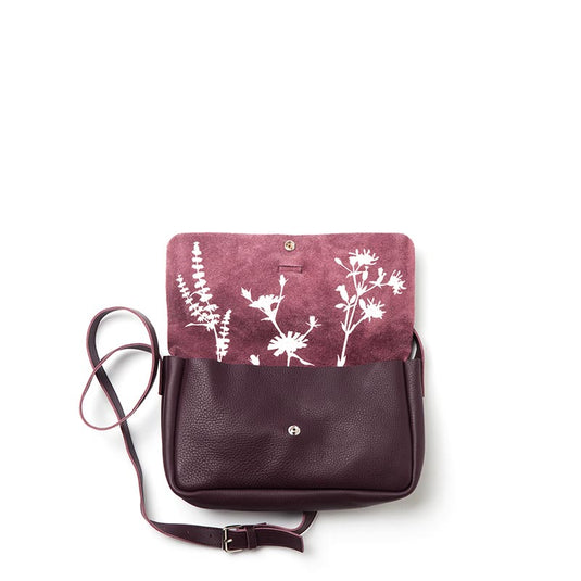 Tas, Picking Flowers Medium, Aubergine