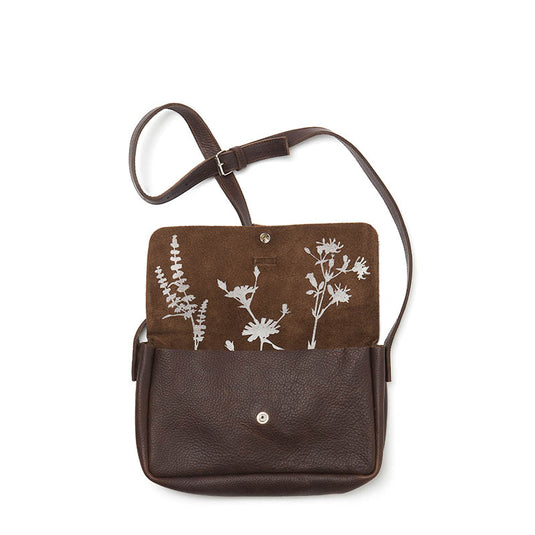 Tas, Picking Flowers Medium, Dark Brown used look
