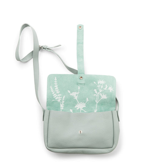 Tas, Picking Flowers Medium, Dusty Green