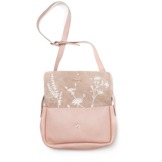 Tas, Picking Flowers Medium, Soft Pink