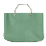 Lichtgroene leren shopper tas, Window Shopper, Forest