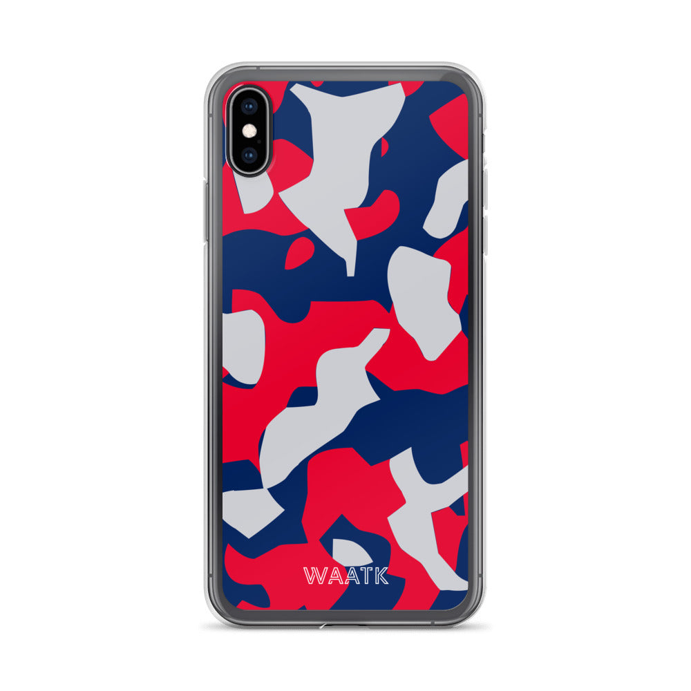 Red and Blue Camo iPhone Cases