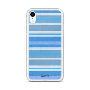 Blue Stripes iPhone Cases