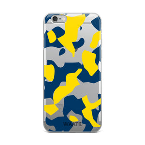 Blue and Gold Camo iPhone Cases