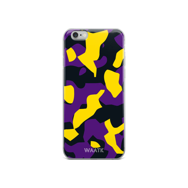 Purple and Gold Camo iPhone Cases