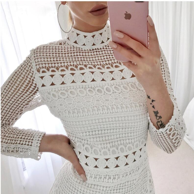White Party Long Sleeve Dress