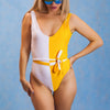 One Piece Swimsuit 2019 Patchwork Swimwear