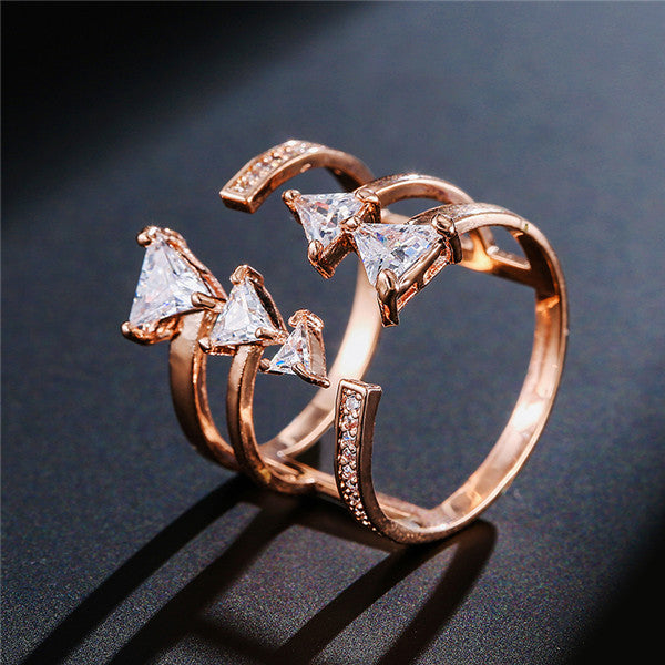 Rings With Triangle Shape Peacock